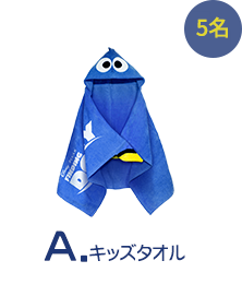 A:キッズタオル 5名