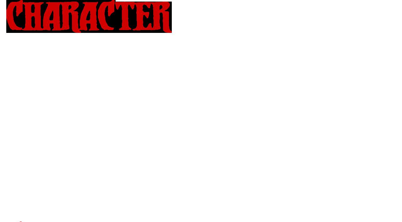 character/キャラクター